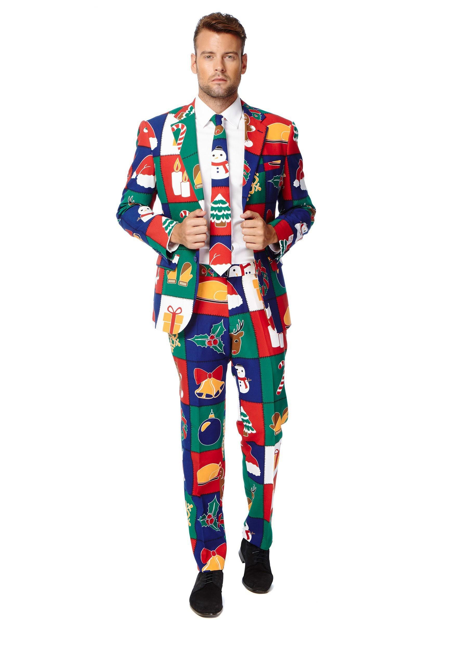 Quilty Pleasure Holiday Opposuit Costume