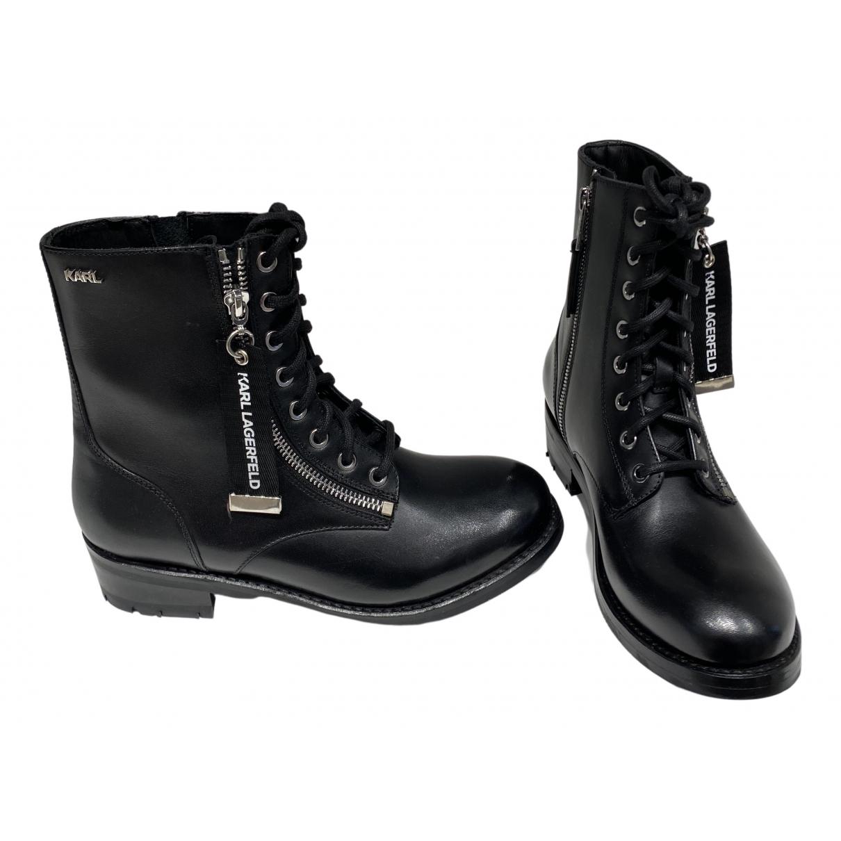 Karl - Bottes   pour femme en cuir - noir