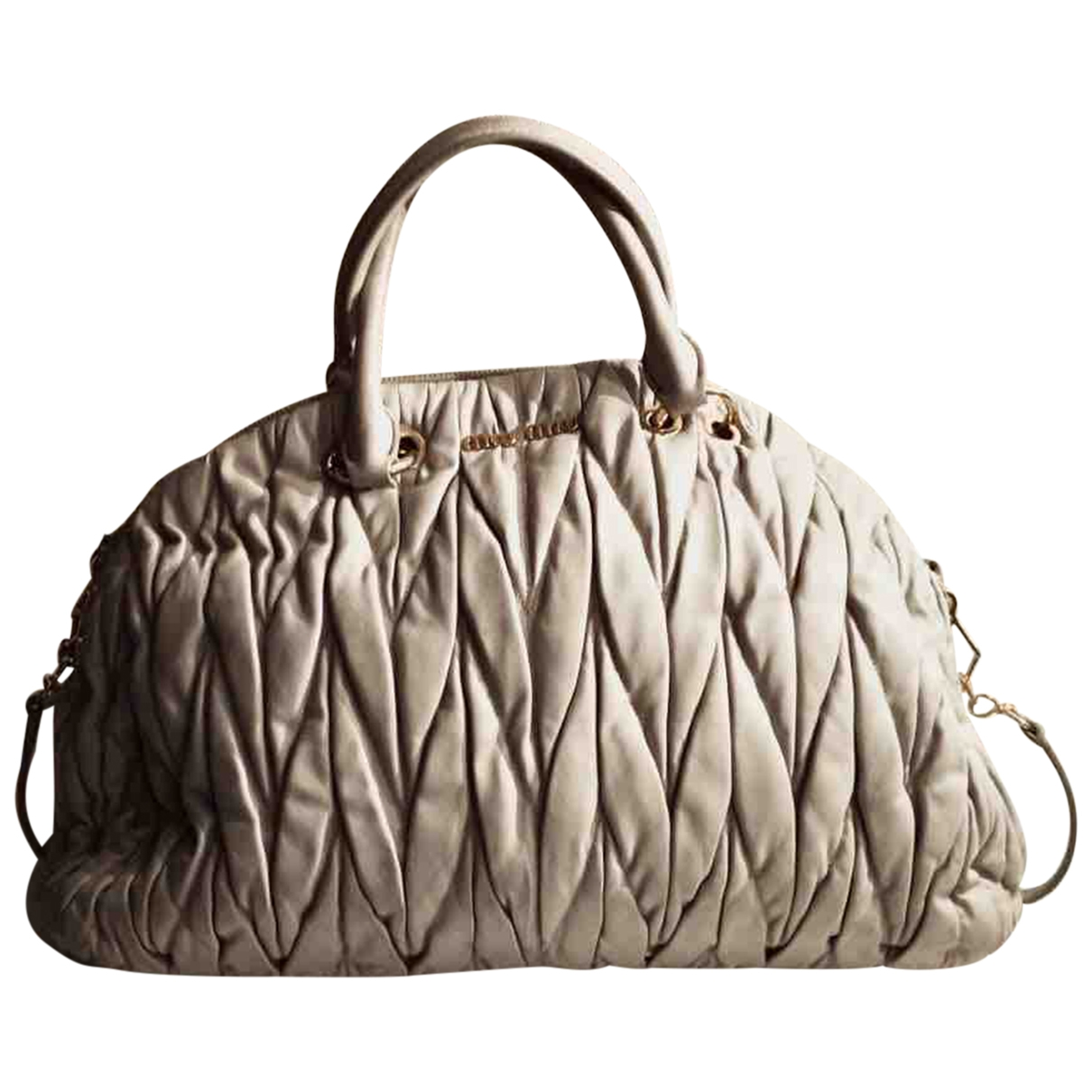 Miu Miu Matelassé Grey Leather handbag for Women \N