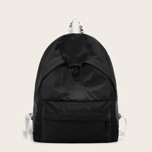 Rucksack mit Taschen vorn und Riemen mit Buchstaben Muster