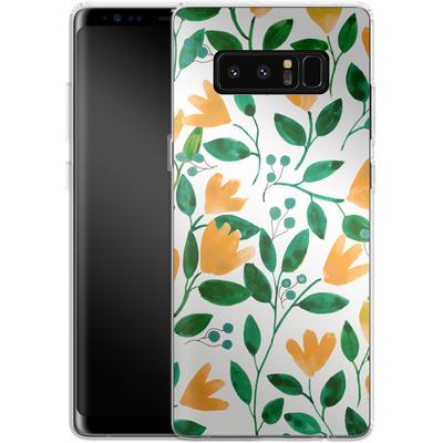 Samsung Galaxy Note 8 Silikon Handyhuelle - Fresh Foliage von Iisa Monttinen