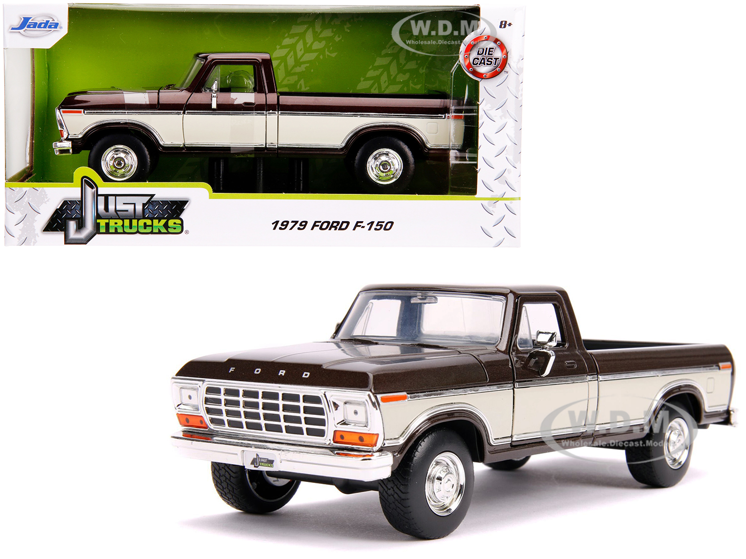 1979 Ford F-150 Pickup Truck Stock Brown Metallic and Cream