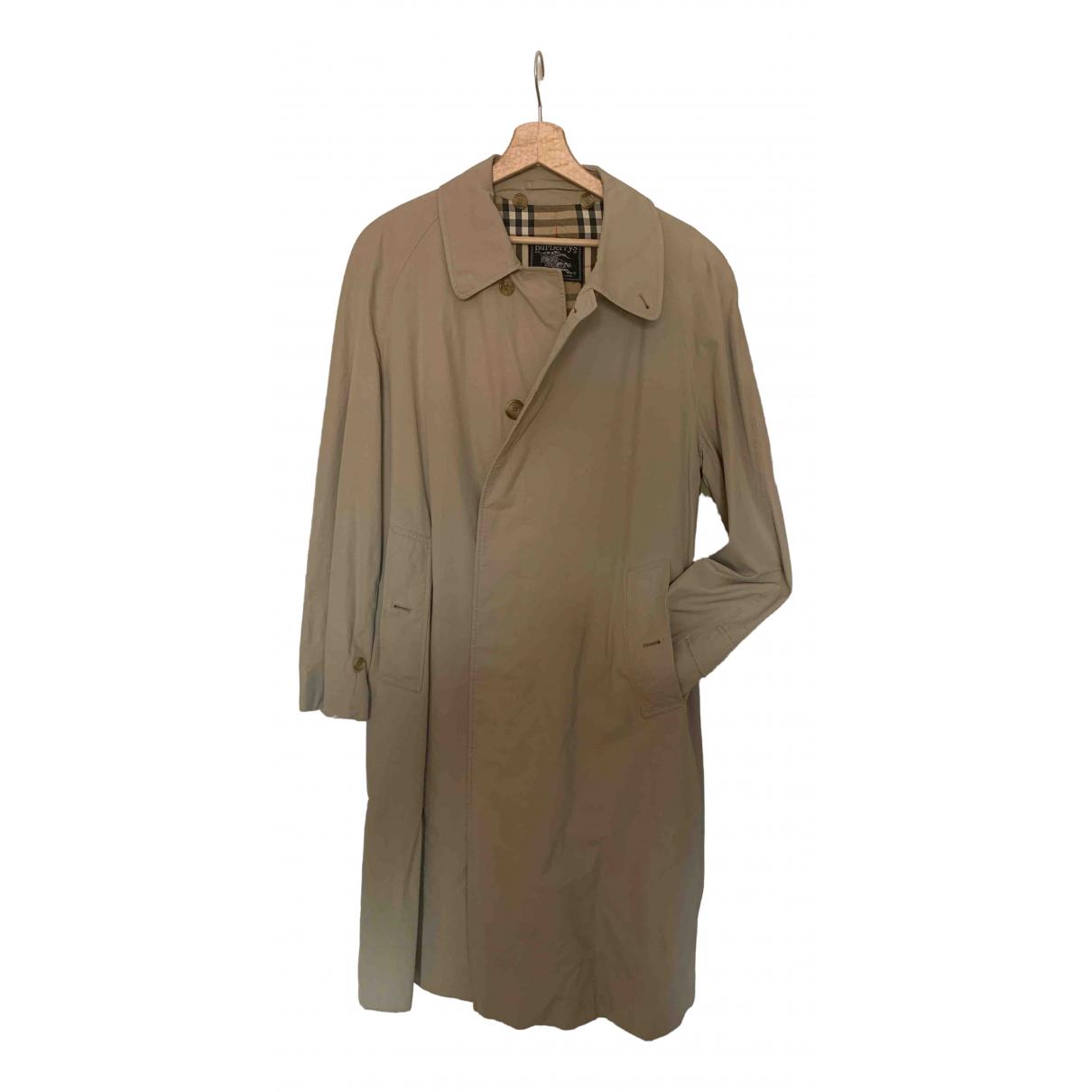 Burberry \N Beige Cotton coat  for Men M International