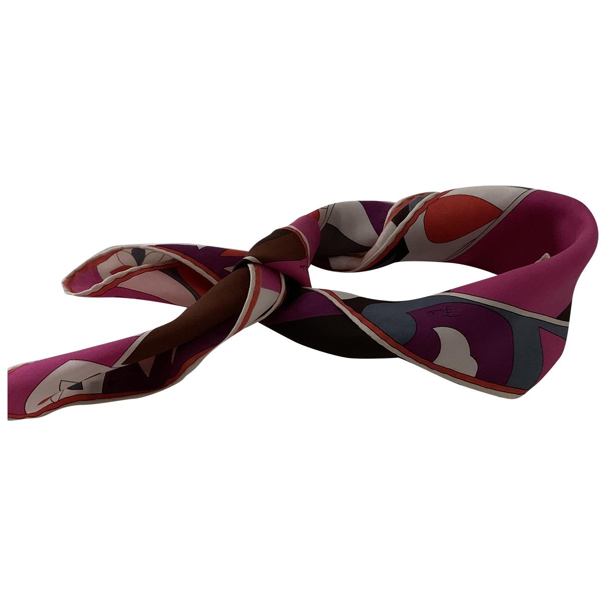Emilio Pucci \N Pink Silk Silk handkerchief for Women \N