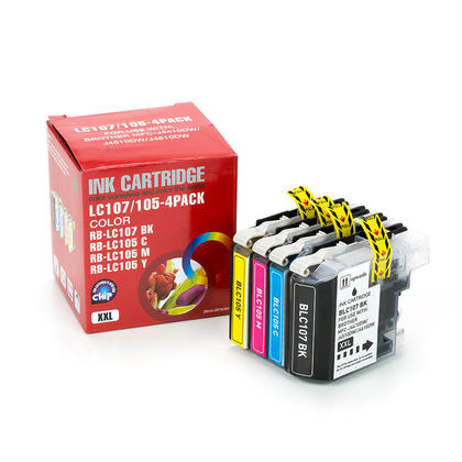 Compatible Brother LC107 LC105 Ink Cartridge Combo BK/C/M/Y - Economical Box