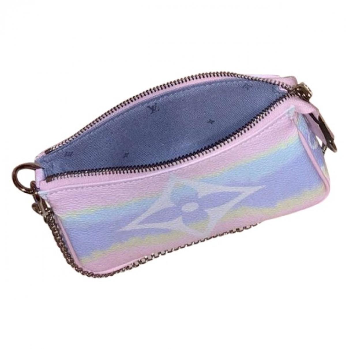 Louis Vuitton Pochette Accessoire Pink Cloth Clutch bag for Women \N