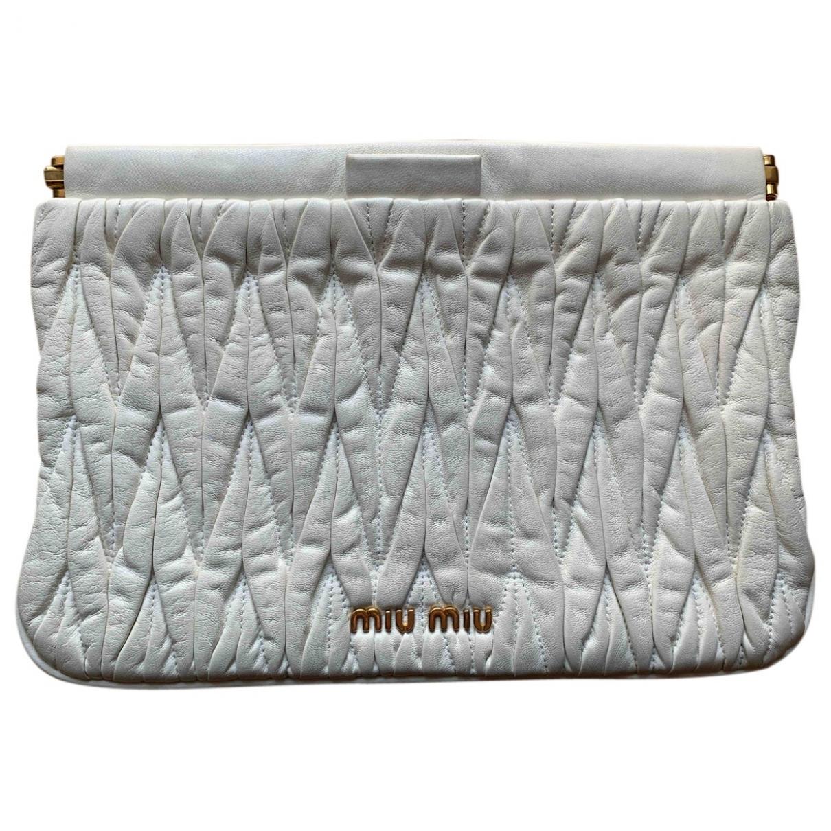 Miu Miu \N White Leather Clutch bag for Women \N