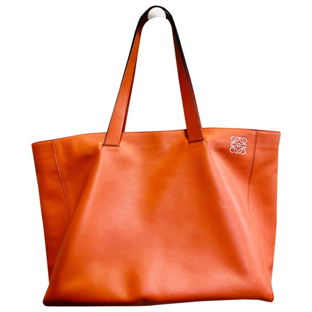 Loewe T Shopper Handtasche in  Orange Leder