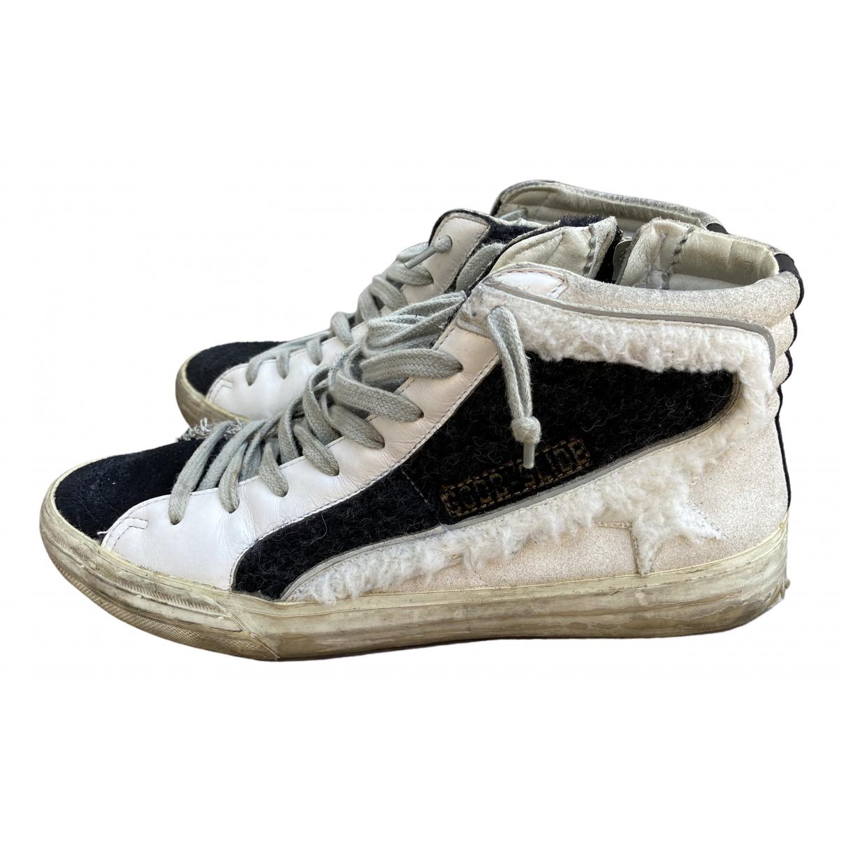 Golden Goose Slide Sneakers in  Ecru Schaf