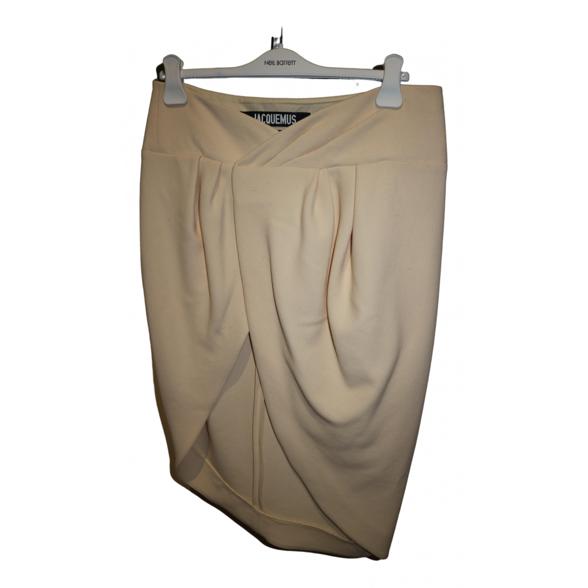 Jacquemus Le Souk Beige Wool skirt for Women 40 FR