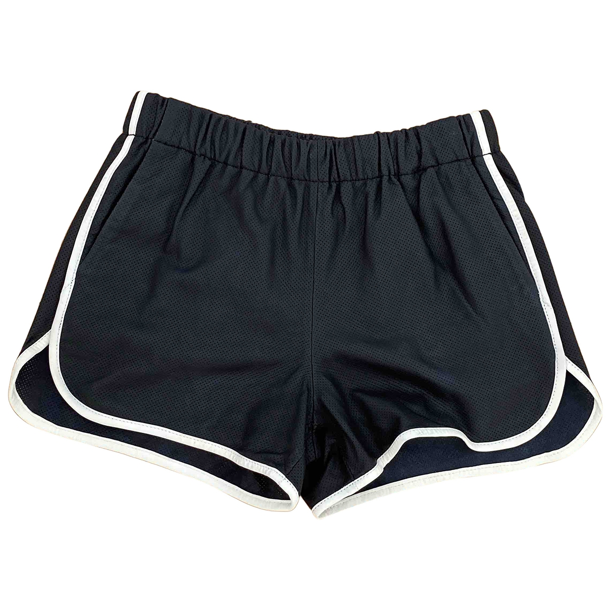 Set \N Shorts in  Schwarz Leder