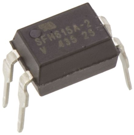 Vishay , SFH615A-2 DC Input Transistor Output Optocoupler, Through Hole, 4-Pin PDIP