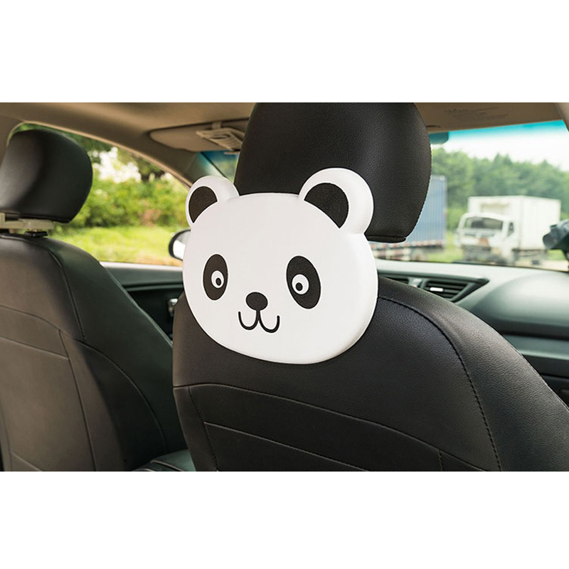 Cute Cartoon Themed Panda Face Seat Back Drink Holder For Kids (Single)