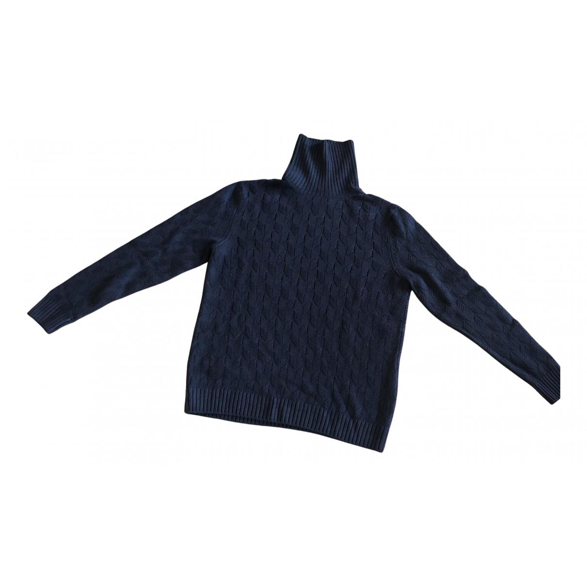 Tagliatore \N Pullover.Westen.Sweatshirts  in  Blau Wolle