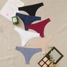 6pack Solid Seamless Panty Set