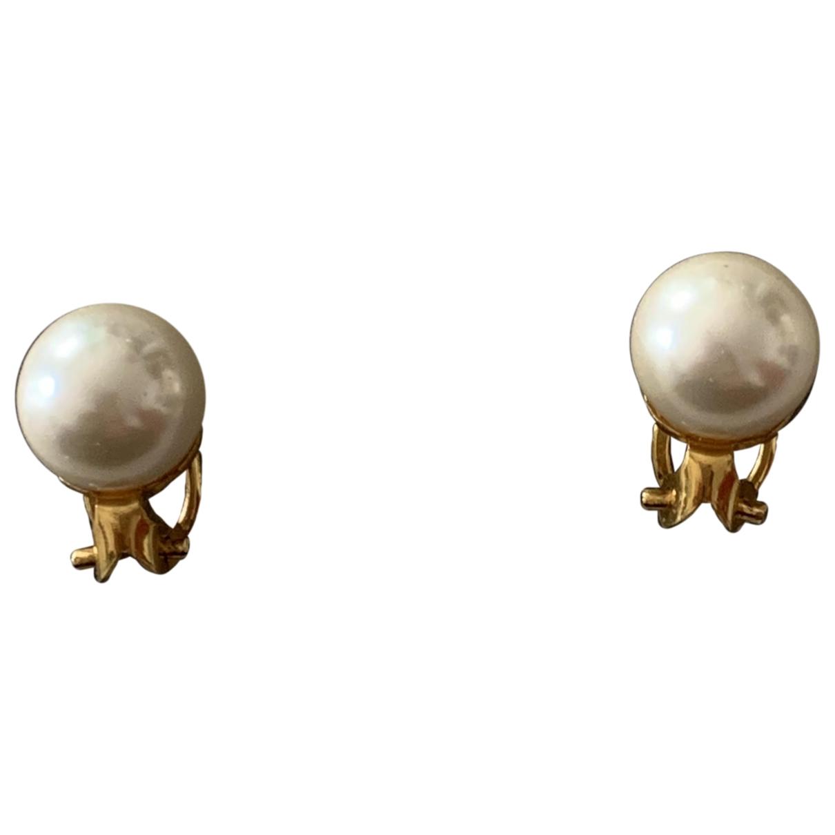 Dior - Boucles doreilles Perles pour femme en metal - blanc