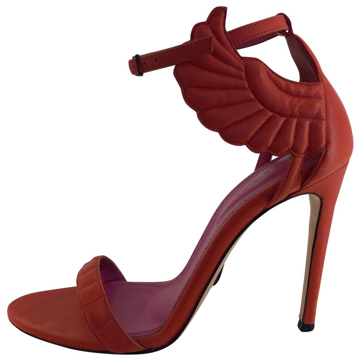 Oscar Tiye \N Orange Leather Sandals for Women 38 EU