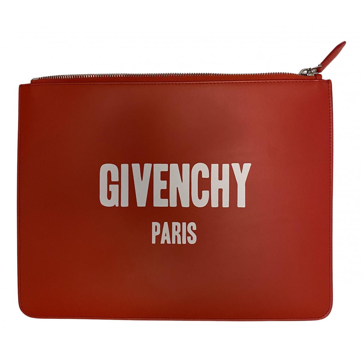 Givenchy - Petite maroquinerie   pour homme en cuir - rouge