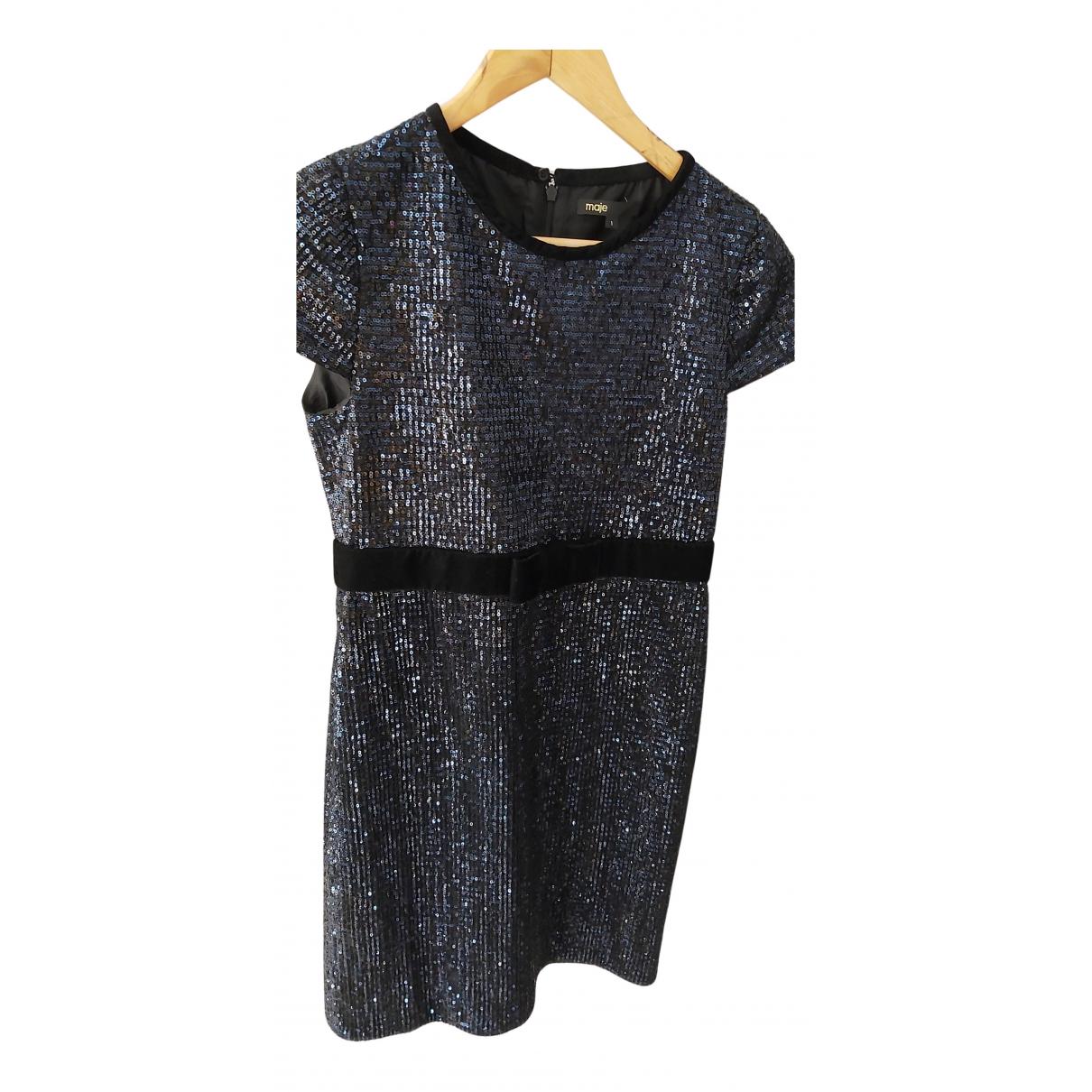 Maje \N Kleid in  Blau Mit Pailletten