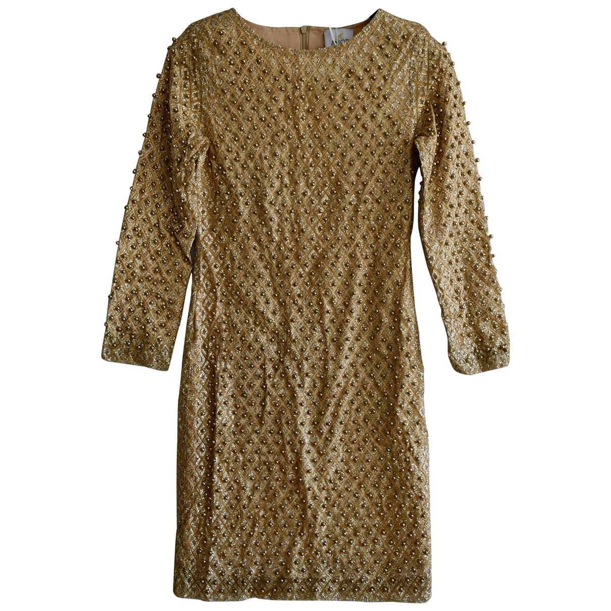 - Robe   pour femme en a paillettes - dore