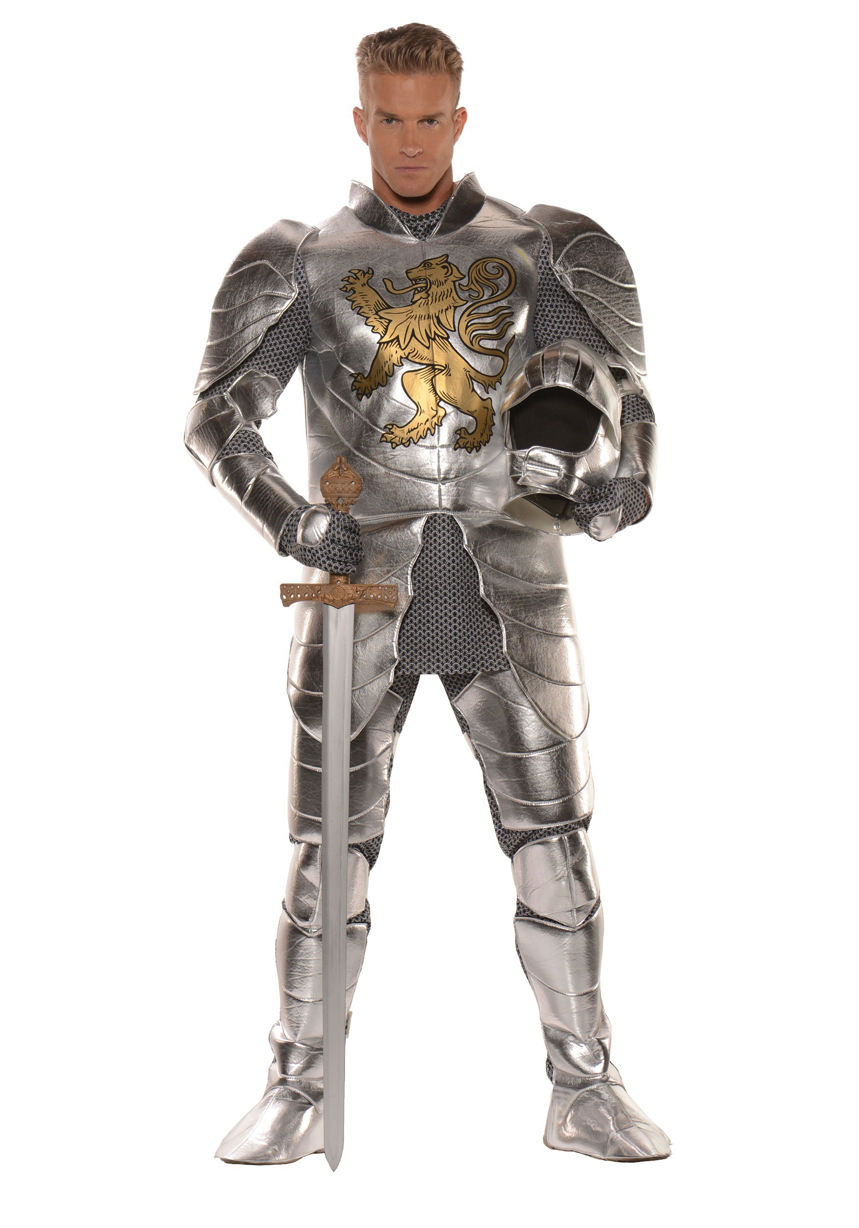 Plus Size Knight in Shining Armor Mens Costume