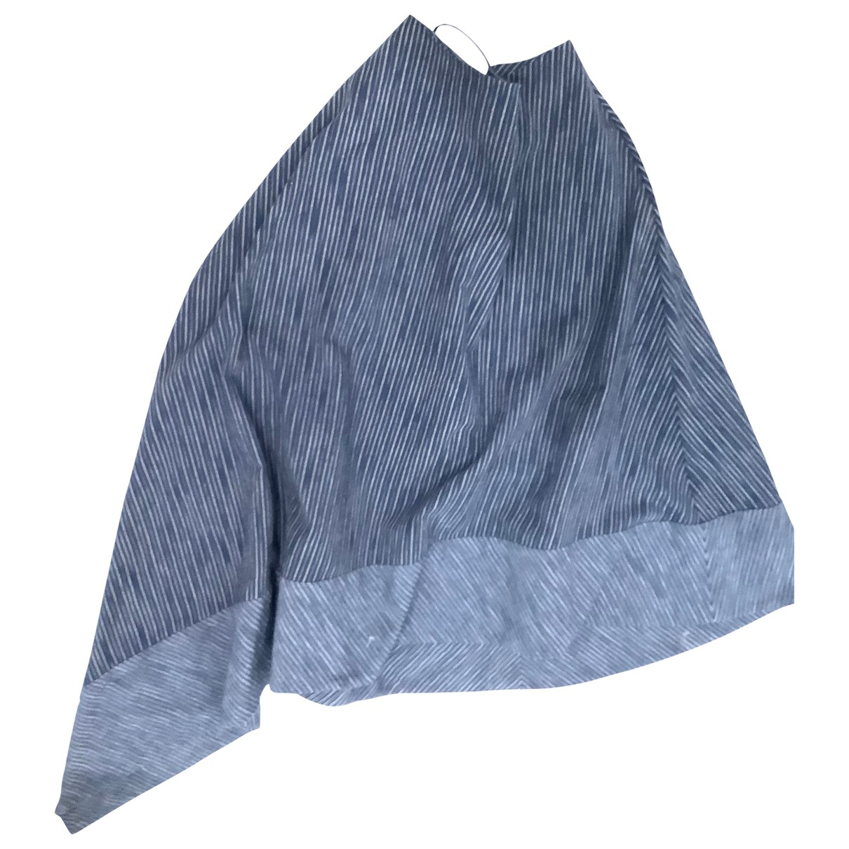 Adam Lippes \N Blue Cotton skirt for Women 8 UK