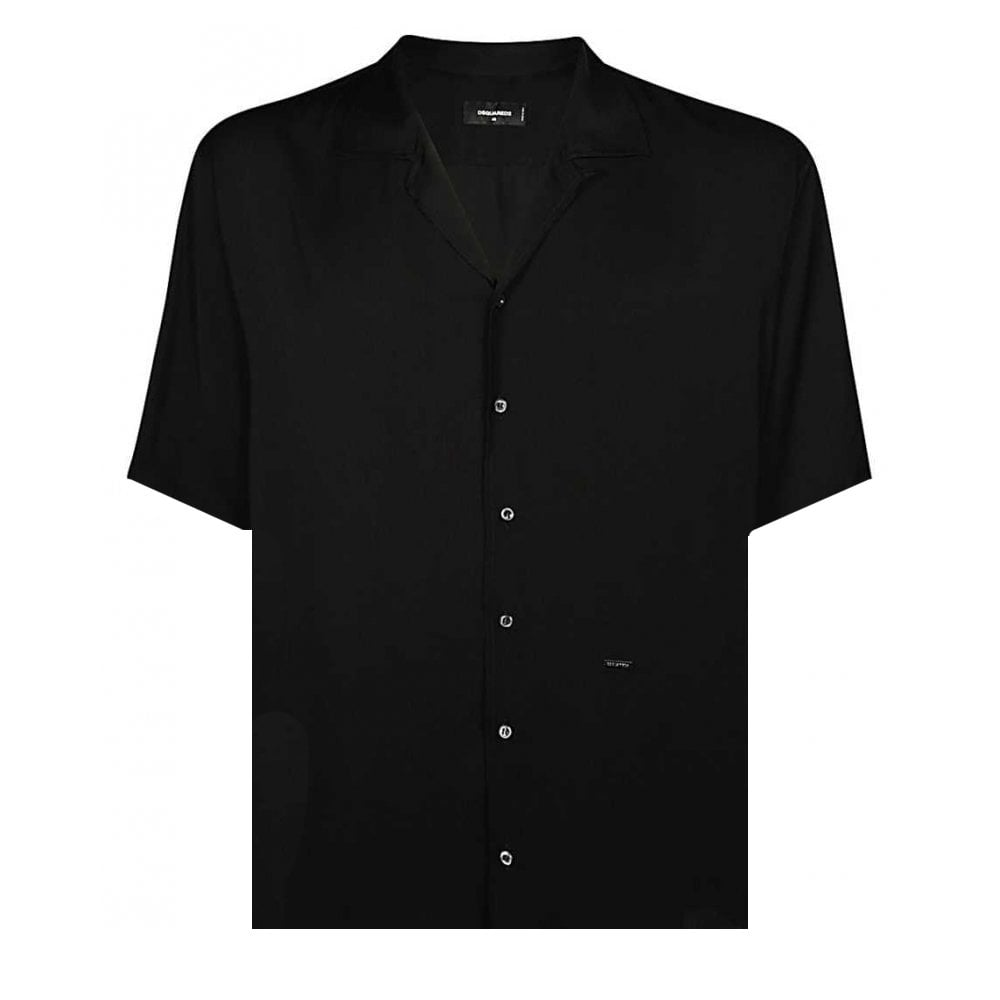 Dsquared2 Popplin Shirt Colour: BLACK, Size: MEDIUM