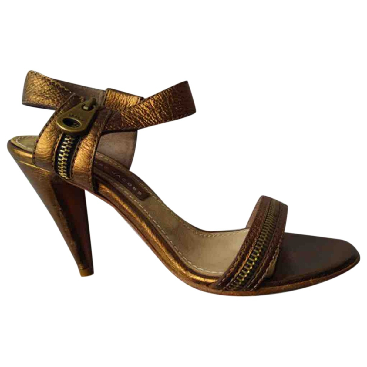 Marc By Marc Jacobs \N Gold Leather Heels for Women 39 IT