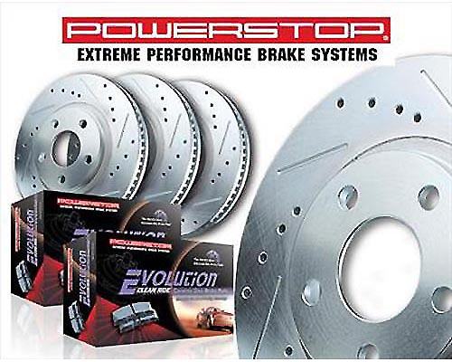 Power Stop K2430-36 Heavy Duty Truck & Tow Brake Kit Front & Rear K2430-36