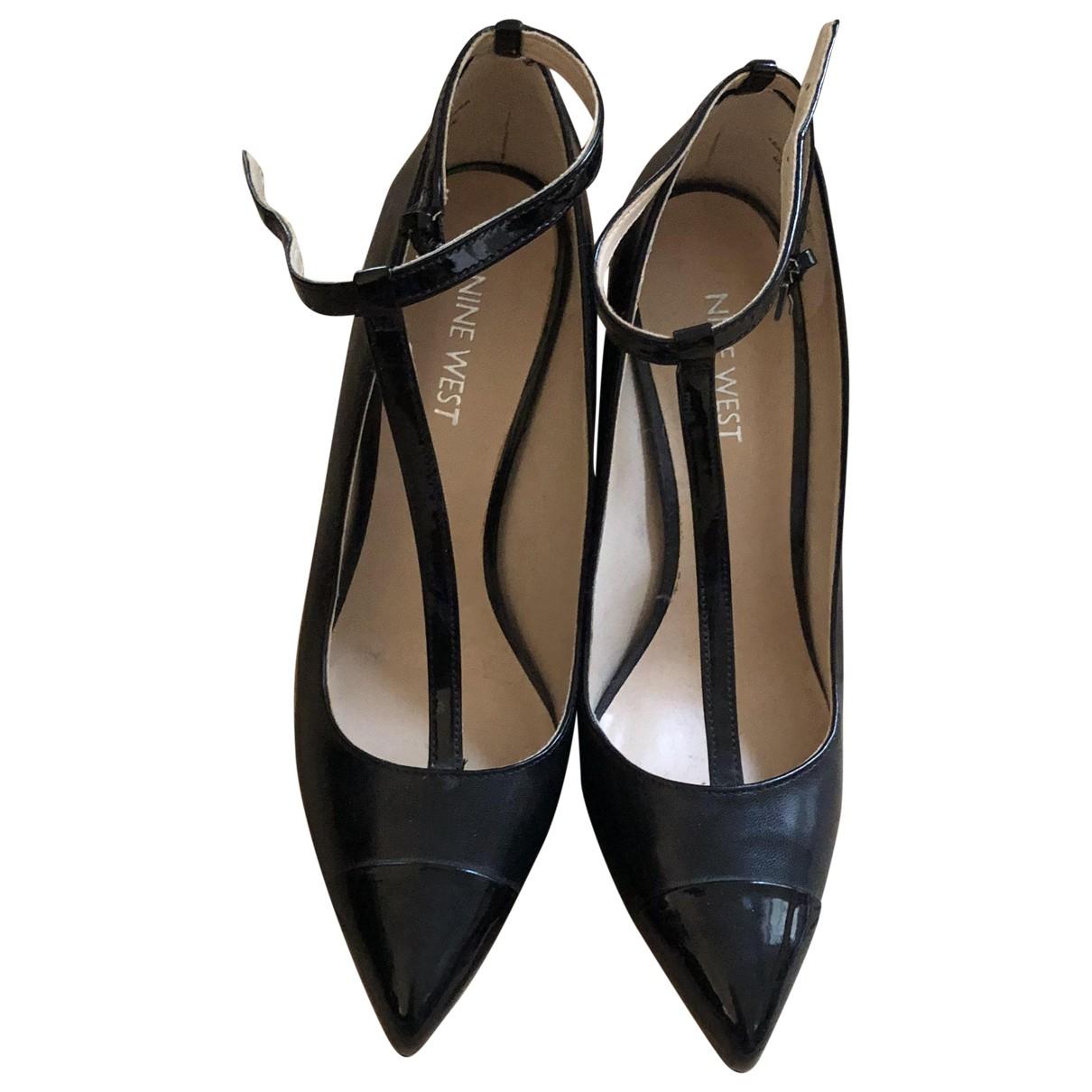 Nine West - Escarpins   pour femme en cuir - noir