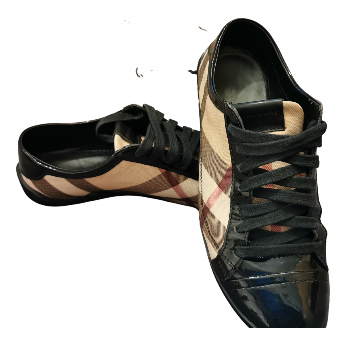 Burberry N Beige Leather Trainers for Women 37 EU