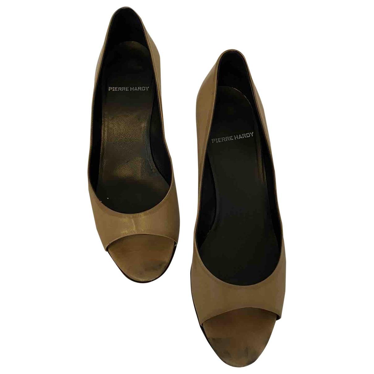 Pierre Hardy N Beige Leather Heels for Women 38.5 EU