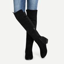 Overknee Stiefel mit Reissverschluss