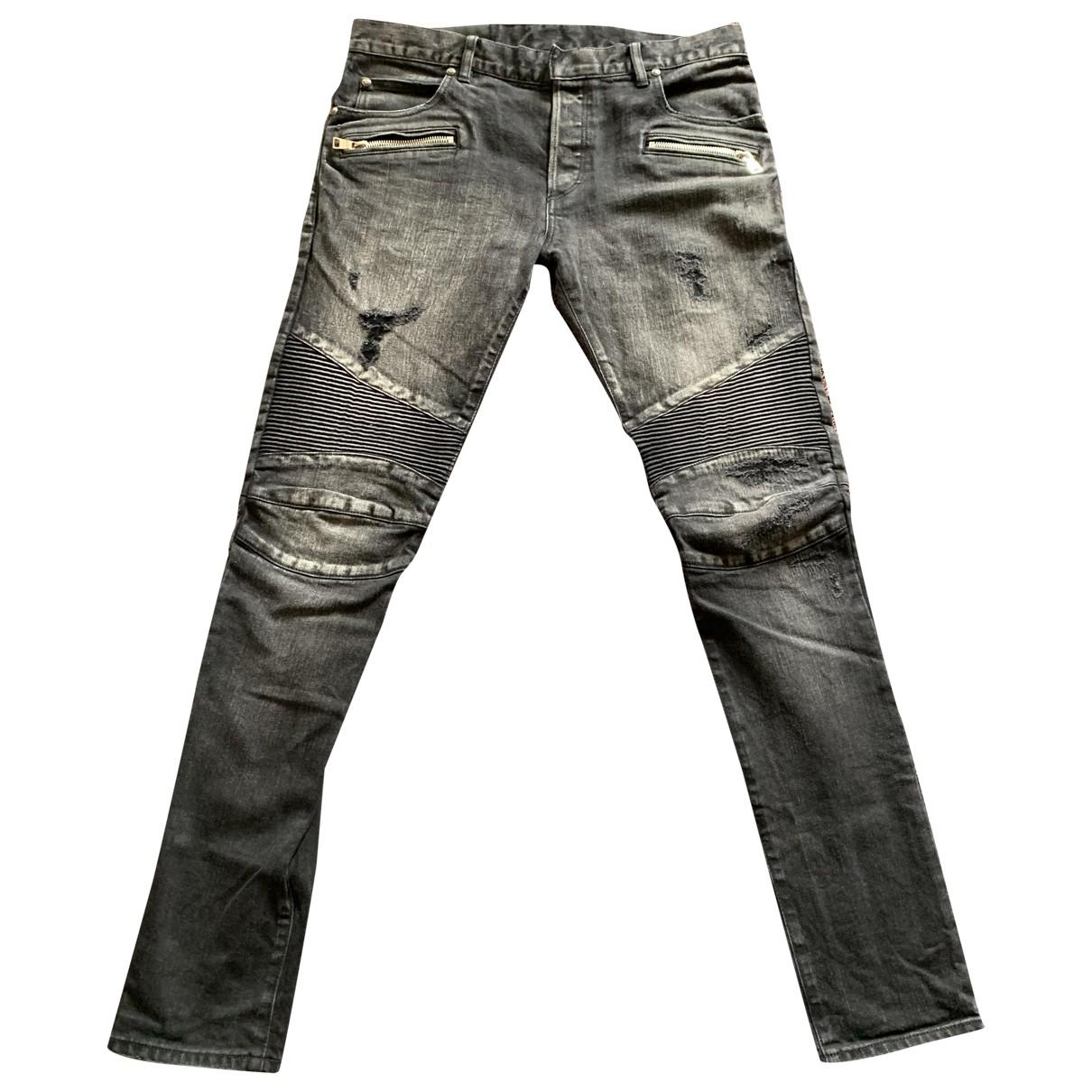 Balmain \N Black Cotton Jeans for Men 33 US