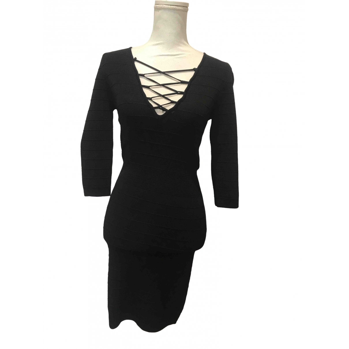 Mango \N Kleid in  Schwarz Synthetik