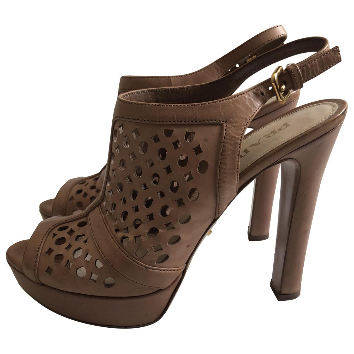 Prada - Sandales   pour femme en cuir