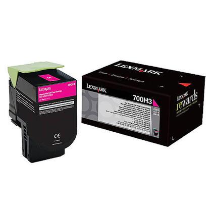 Lexmark 700H3 70C0H30 Original Magenta Toner Cartridge High Yield
