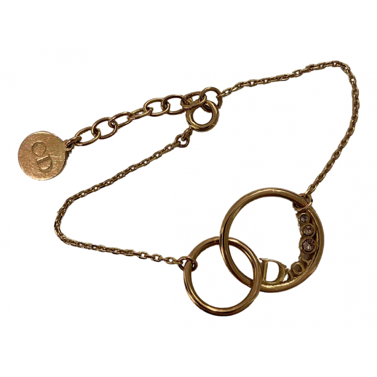 Dior Monogramme Armband in  Gold Metall