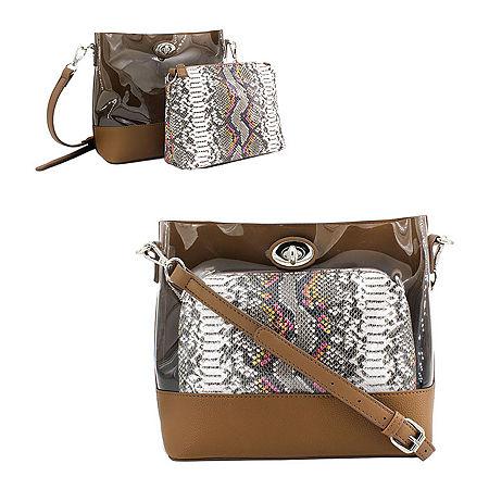Olivia Miller Multi Snake Crossbody Bag, One Size , Brown
