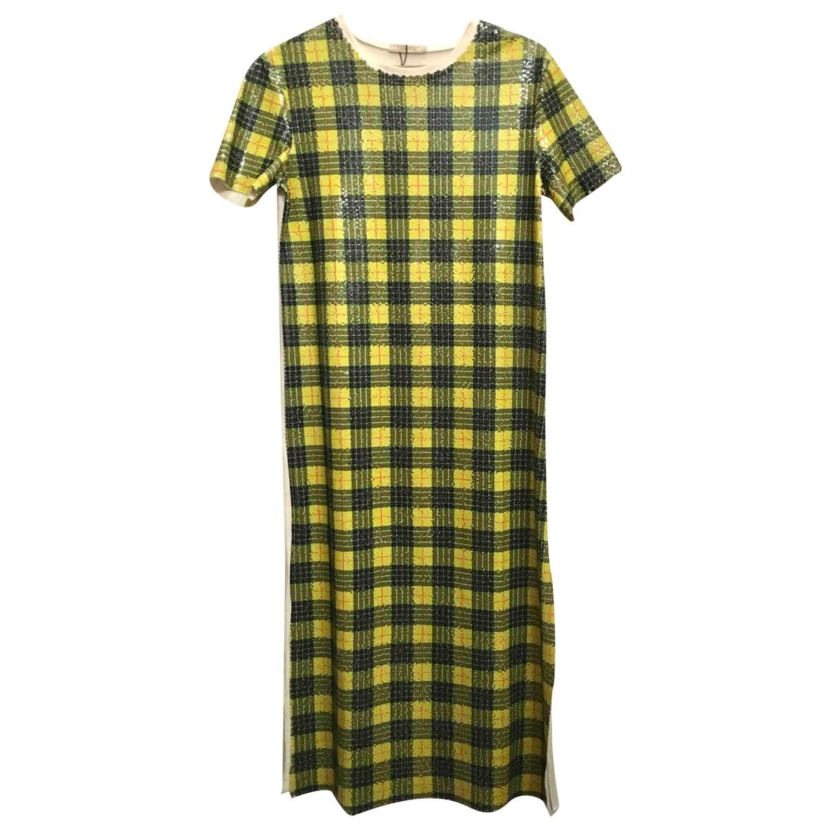 Zara \N Kleid in  Gelb Baumwolle