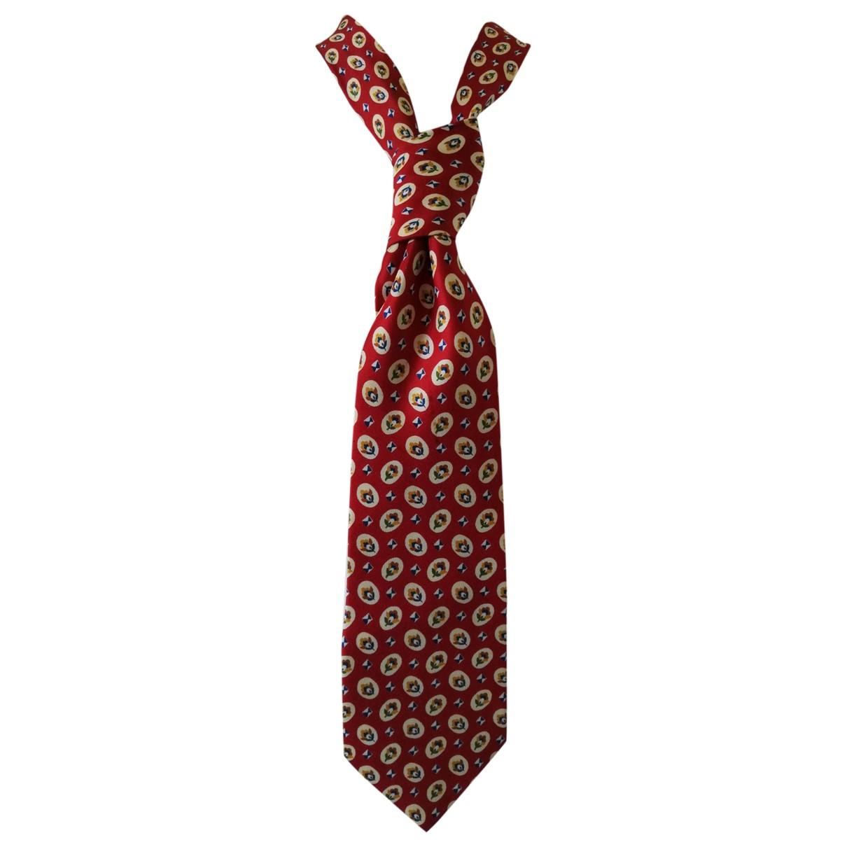 Valentino Garavani \N Krawatten in  Rot Seide