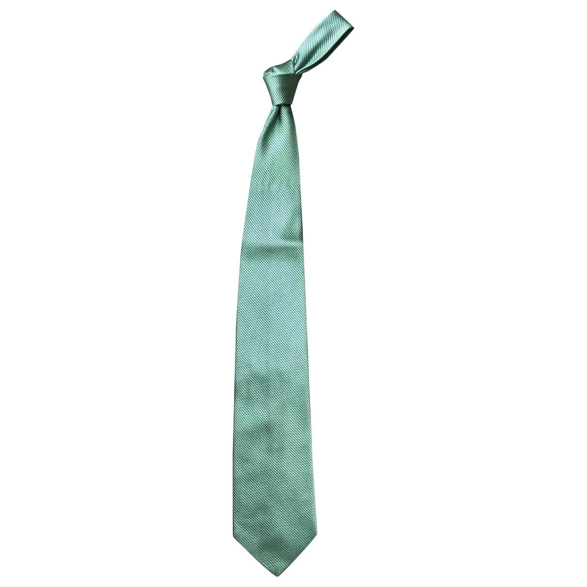 Etro \N Green Silk Ties for Men \N