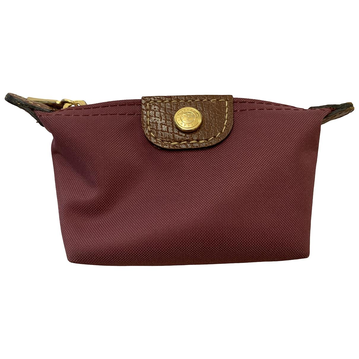 Longchamp \N Purple Cloth Purses, wallet & cases for Women \N