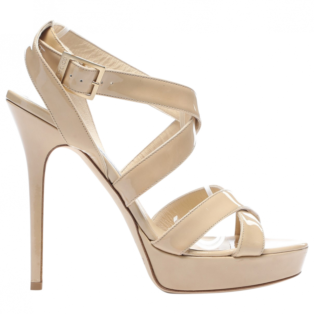 Jimmy Choo \N Pumps in  Beige Lackleder