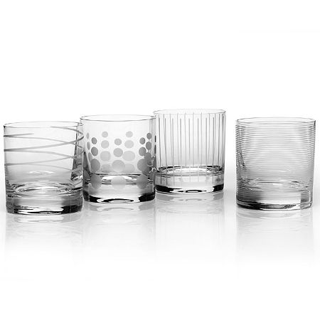 Mikasa Cheers Set of 4 Double Old Fashioned Glass, One Size , Multiple Colors
