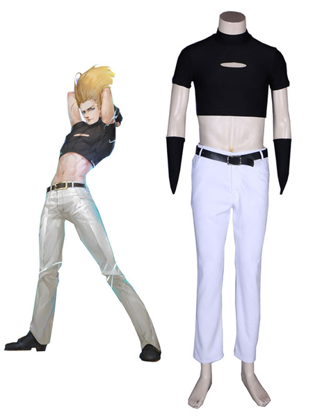 Milanoo The King Of Fighters KOF Benimaru Nikaido Cosplay Costume