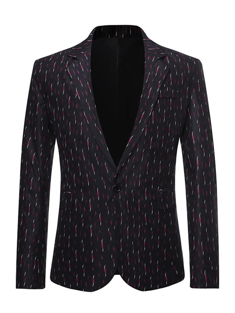 Ericdress Notched Lapel One Button Print Men's Leisure Blazers