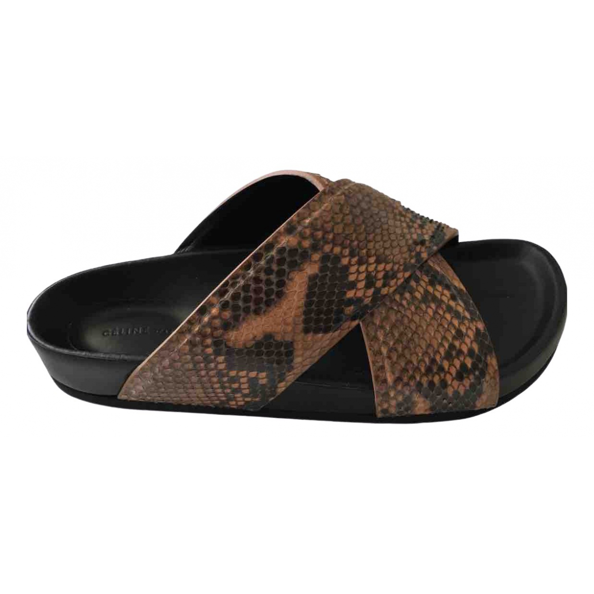 Celine Twist  Python Sandals for Women 37 IT