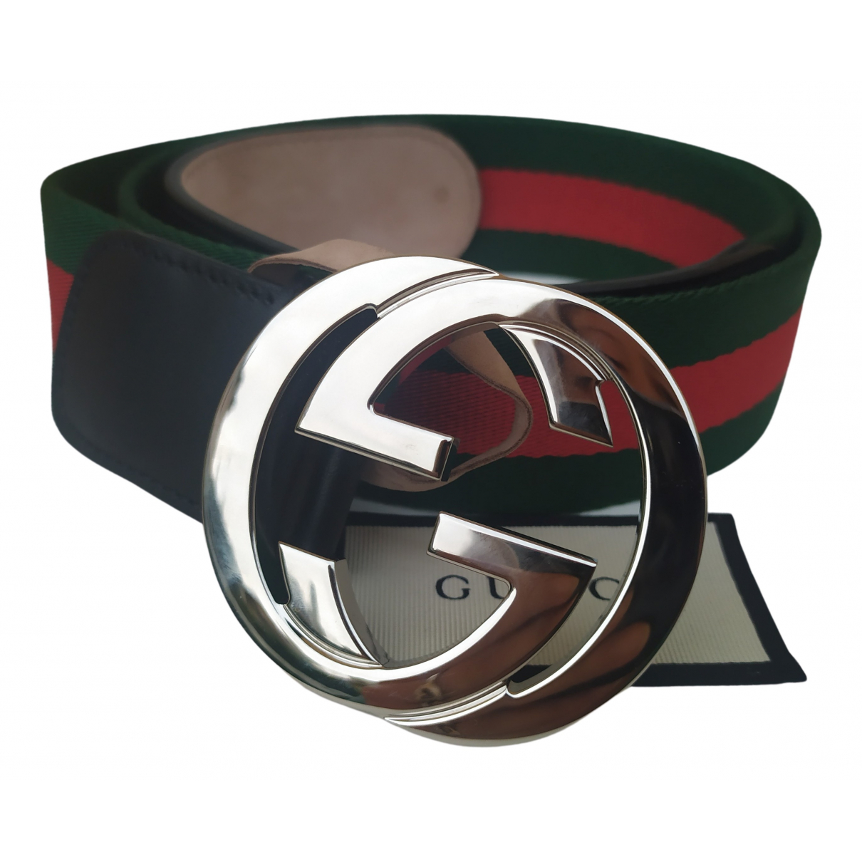 Gucci Interlocking Buckle Cloth belt for Women 85 cm