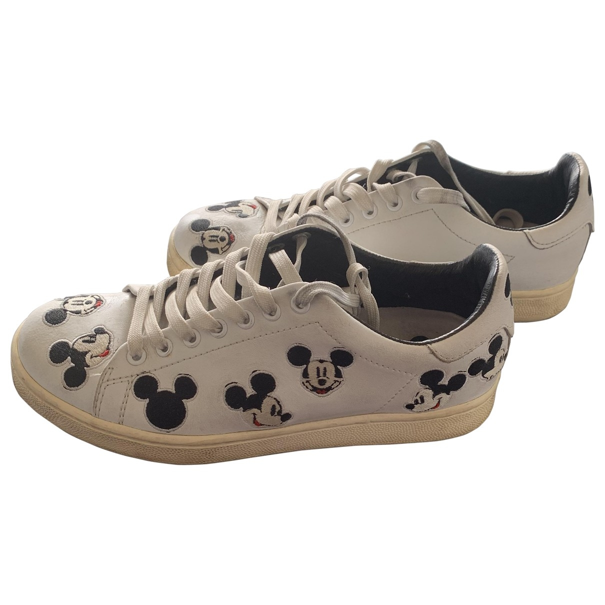 Moa Master Of Arts \N White Leather Trainers for Women 38 EU